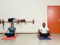 """<P STYLE=""""text-align: left;"""">We zijn hier in buurtcentrum Het Anker waar iedere week yoga wordt gegeven. We zien hier Mila en meneer Sardjoe, zij doen allebei aan yoga.</p>"""
